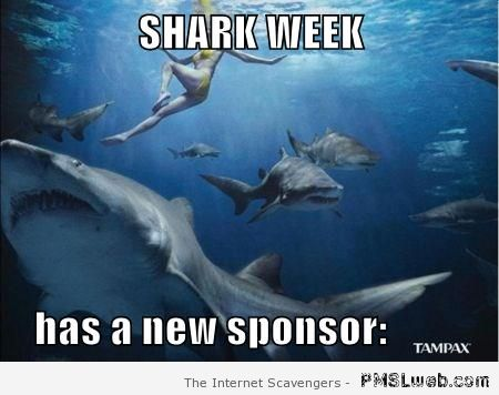 Shark week sponsored by tampax at PMSLweb.com