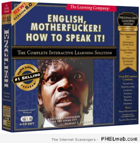 Learn to speak English with Samuel L Jackson at PMSLweb.com