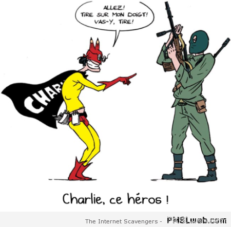 Charlie hebdo tribute Sticky Pants at PMSLweb.com