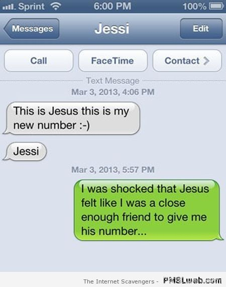 Jesus phone number autocorrect fail at PMSLweb.com