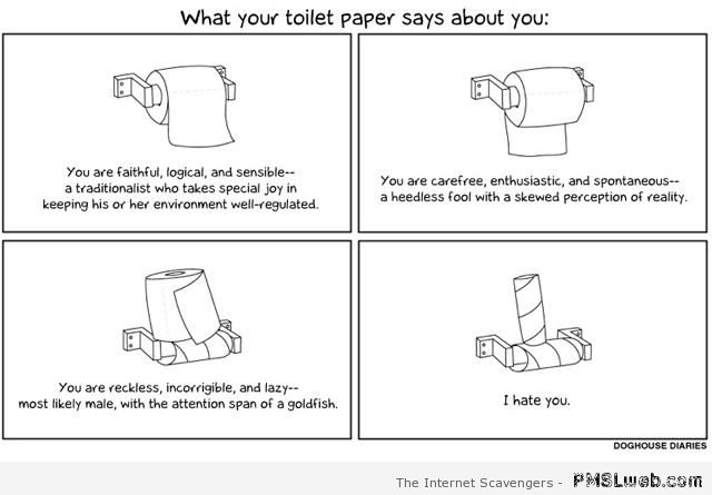 What your toilet paper says about you at PMSLweb.com