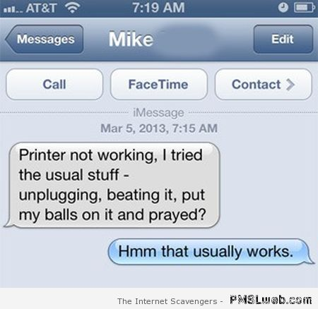 Printer not working autocorrect fail at PMSLweb.com