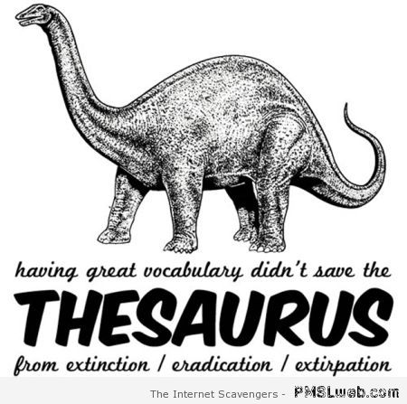 Thesaurus humor at PMSLweb.com