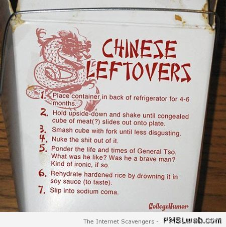 Chinese leftovers humor at PMSLweb.com