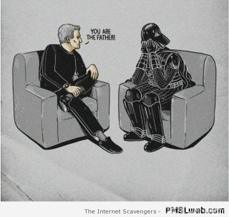 Darth Vader you are the father humor at PMSLweb.com