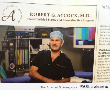 Funny surgeon name – Funny weekend pictures at PMSLweb.com