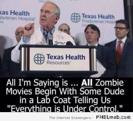 All zombie movies begin humor at PMSLweb.com