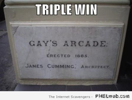 Gay's arcade triple win at PMSLweb.com