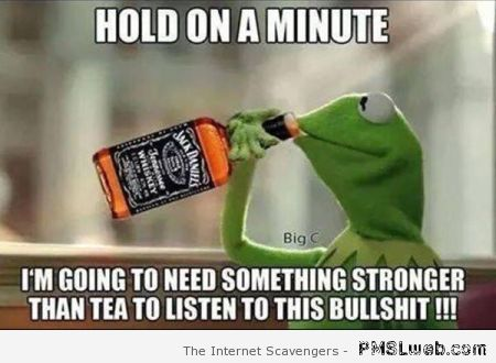 Kermit hold on a minute whiskey meme at PMSLweb.com