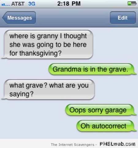 Grandma is in the grave iPhone fail – Hilarious iPhone moments at PMSLweb.com