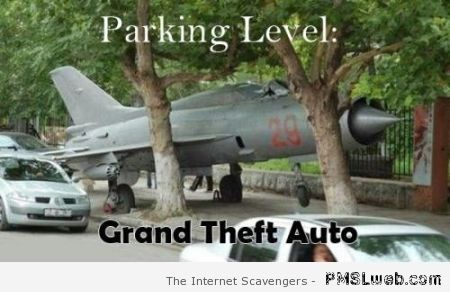 Parking level GTA humor – Funny pictorama at PMSLweb.com