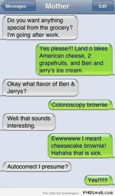 Colonoscopy brownie iPhone fail at PMSLweb.com