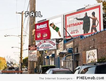 Advertising board fail – Hilarious Wednesday at PMSLweb.com