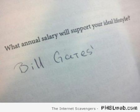 Annual salary humor at PMSLweb.com