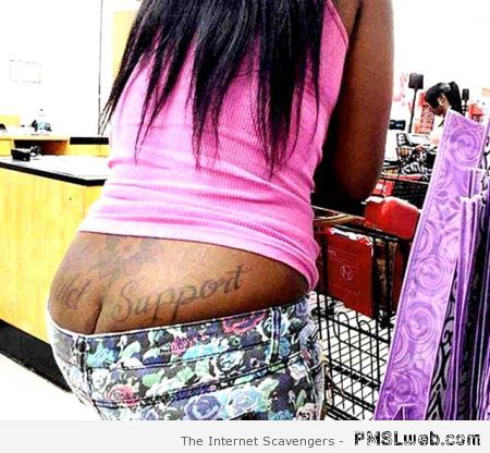 Child support tattoo at PMSLweb.com