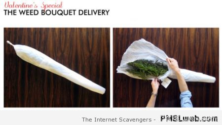 Valentine's day weed bouquet delivery at PMSLweb.com