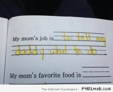 Funny my mom's job is at PMSLweb.com
