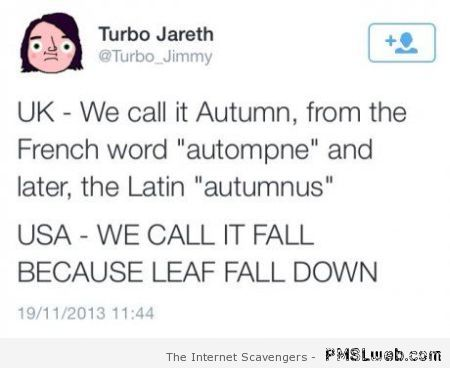 Why we call it fall humor at PMSLweb.com