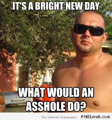 What would an a**hole do meme at PMSLweb.com