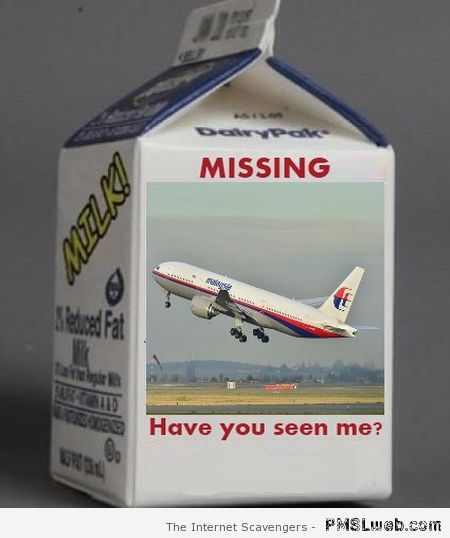 Malaysia airlines milk box missing at PMSLweb.com