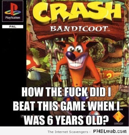 Crash bandicoot meme at PMSLweb.com