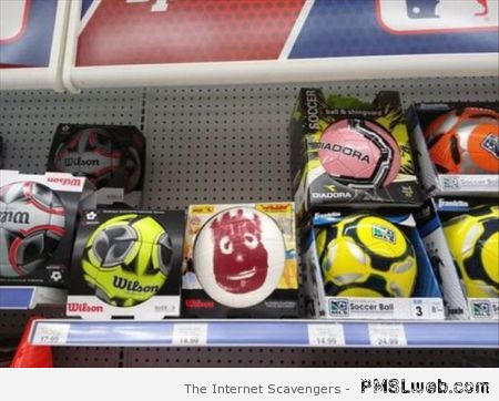 Funny famous Wilson ball at PMSLweb.com