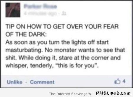 How to get over your fear of the dark humor at PMSLweb.com