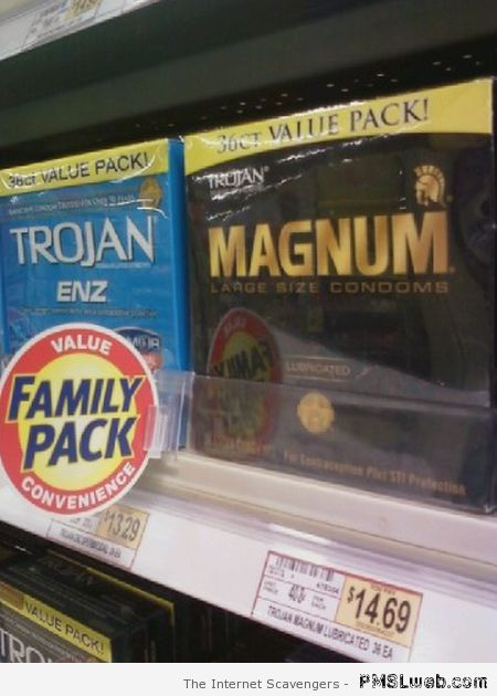 Condom family pack fail at PMSLweb.com