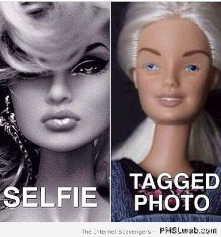 Selfie versus tagged photo at PMSLweb.com