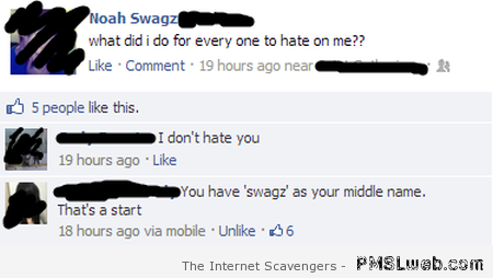 What did I do for everyone to hate me at PMSLweb.com