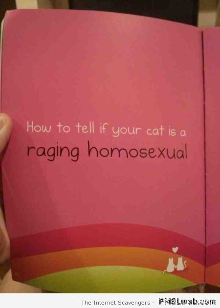 Weird homosexual cat book at PMSLweb.com