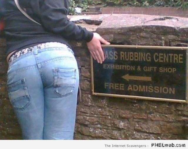 A** rubbing center humor at PMSLweb.com