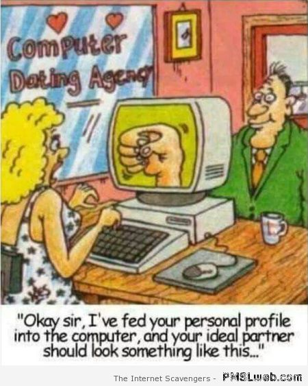 Computer dating agency joke at PMSLweb.com