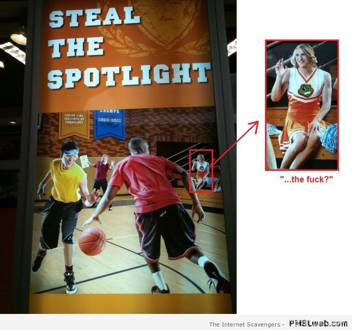 Steal the spotlight poster fail at PMSLweb.com
