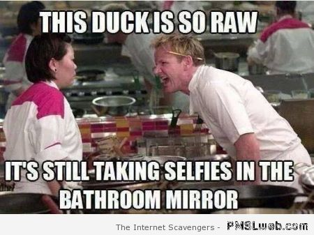 This duck is so raw meme at PMSLweb.com