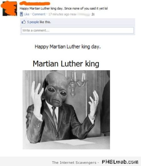 Martian Luther King fail at PMSLweb.com
