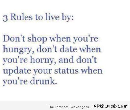 Three rules to live by – Funny Thursday at PMSLweb.com