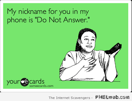 Do not answer ecard at PMSLweb.com