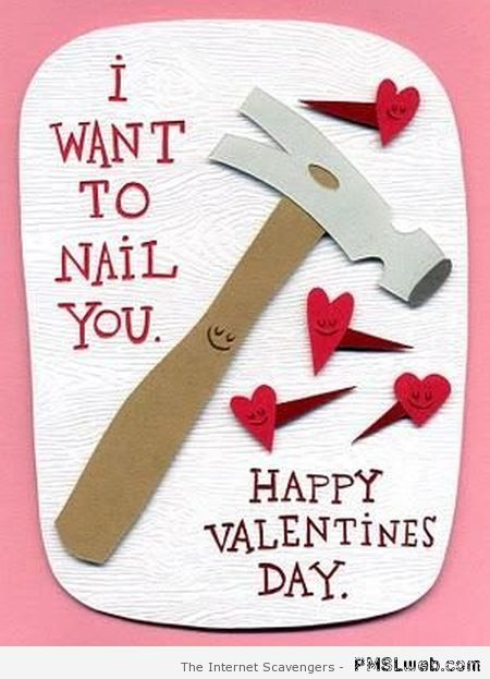I want to nail you Valentine's day card at PMSLweb.com