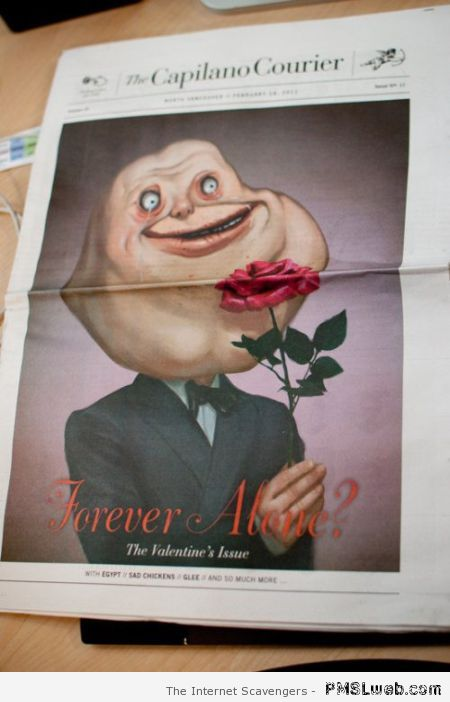 forever alone valentine's day issue – Funny Valentine Day pictures at PMSLweb.com