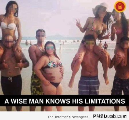 Funny a wise man knows his limitations – Weekend nonsense at PMSLweb.com