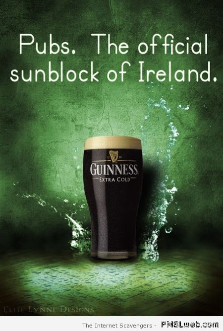 Pubs the official sun block of Ireland at PMSLweb.com