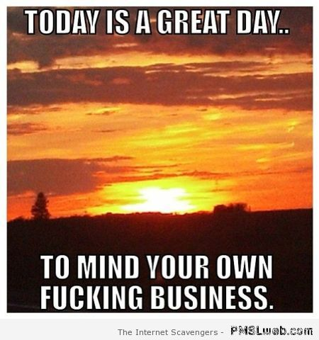 Today is a great day meme at PMSLweb.com