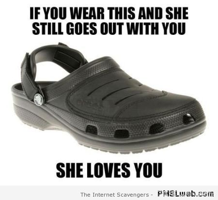 Crocs and love meme at PMSLweb.com