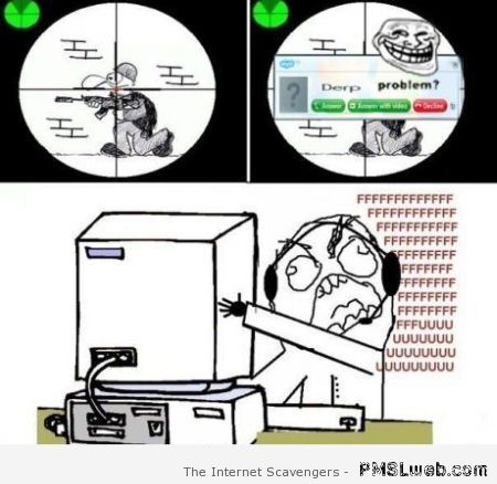 Funny Rage Funny Gamers' Skype Rage Comic