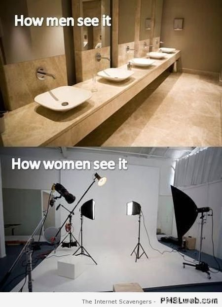 How men see it vs how women see it humor at PMSLweb.com