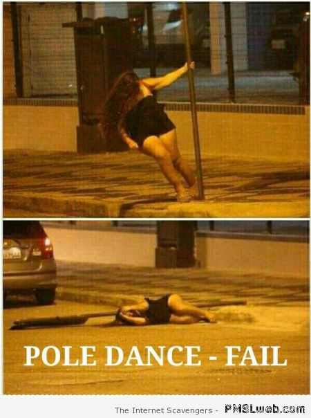 Pole dance fail at PMSLweb.com