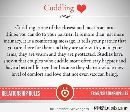 Cuddling fact – Miscellaneous at PMSLweb.com