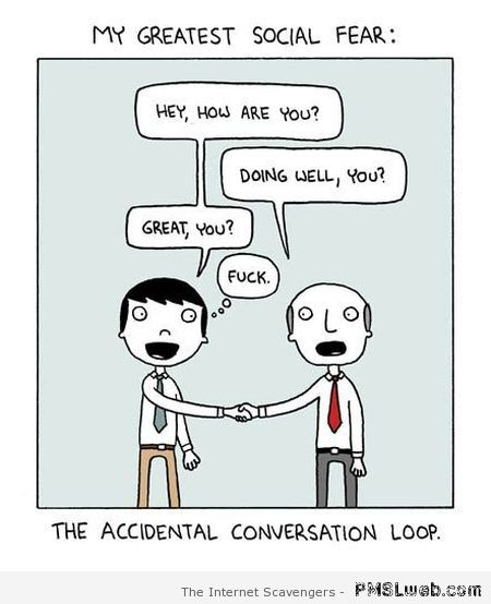 The accidental conversation loop humor – Sunday giggles at PMSLweb.com