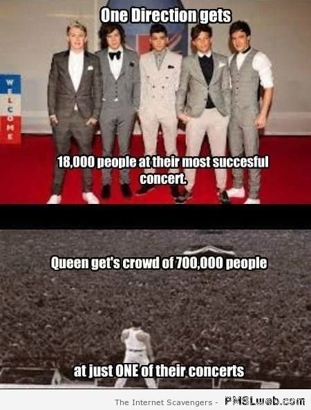 One direction versus Queen at PMSLweb.com